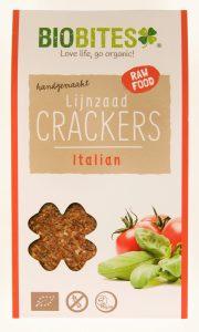 Onze Snacks Biobites Lijnzaad Crackers italien